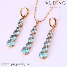61987-Xuping Moda Mulher Jewlery Set com Banhado a Ouro 18K