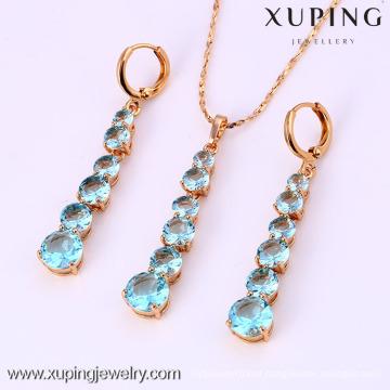61987-Xuping Fashion Woman Jewlery Set with 18K Gold Plated