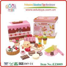 Schokolade Set Hölzerne Pädagogische Spielzeug