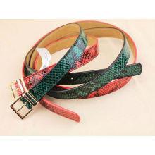 Snake pattern women leather belt for dress