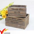 Cajas de madera recicladas de la fruta de la antigüedad del vintage viejas rústicas hechas a mano viejas para la venta