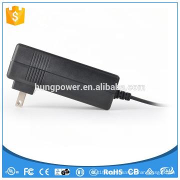 Adaptador de corrente alternada 12v 5a de montagem na parede, a fonte de alimentação com certificado UL KC
