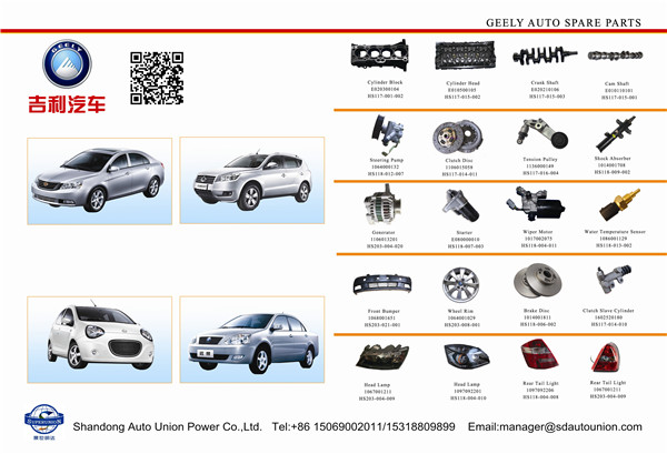 Geely auto spare parts
