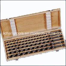 Power Tool 6PCS Wood Auger Bits Set with Wood Box