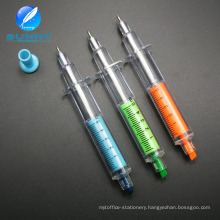 Customized Logo Advertising Syringe Highlighter with Ballpen 2 In1 Pen
