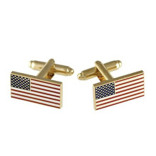 Customized for Cufflinks Set American Flag Metal Cufflinks Perfect For Gift export to India Exporter