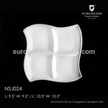 NSJ024 heißes Verkaufs-Gaststätte-Porzellan-Fach geteilte Platte, Nahrungsmittelfachfach