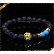 Moda Bead Bracelets Lava Pulseiras Natural Jóias (CB085)