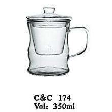 Heat Resistant Borosilicate Glass Teapot with Infuser, Glassware Factory Glass Teapot Set