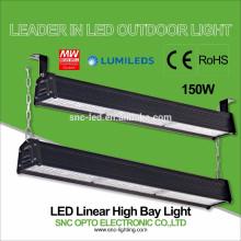 CE RoHS aprobó 150w LED Linear alta iluminación de la bahía con Mean Well HLG Driver
