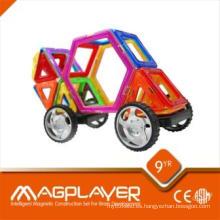 Rompecabezas magnético del OEM Magplayer Diferentes azulejos de la forma del arco iris