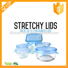 Durable Expandable Silikon Stretch Lider 6 Pack