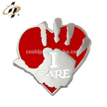 Custom wholesale cheap design your own 3d metal safety pin badge