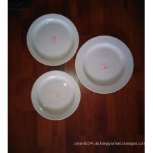 CHEAP HOTEL DINNER PLATTE ROUND SHAPE PLAIN WEISS