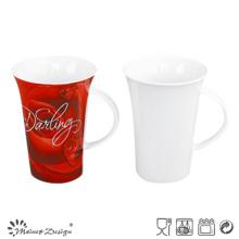 Taza de cerámica de la leche de la porcelana 13oz de alta calidad