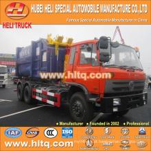 DONGFENG modelo novo 18cbm 6X4 210hp puxando o caminhão de lixo do caminhão de alta qualidade mais vendidos na China