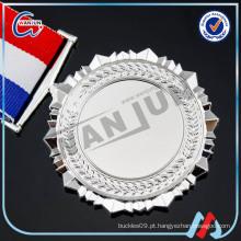 Liga de zinco pingentes medalha de prata esterlina