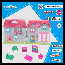 Beautiful girl sonho casa jogar brinquedos villa design pequeno