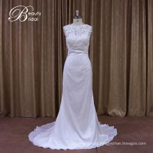 Praia de laço de seda Georgeous fábrica venda vestido de noiva