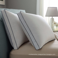 Factory price 100% polyester soft white piping pillow shell