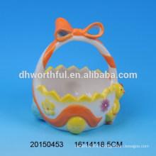Pastel de pollo de cerámica huevo titular cestas