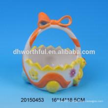 Easter chicken ceramic egg holder baskets