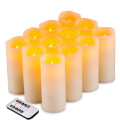 Flameless Candles Flimrande LED-ljus Set