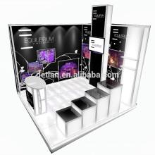 Detian Oferecer 10x10 pés comestic contador comércio mostrar cabine de exibição de publicidade tecido de tensão