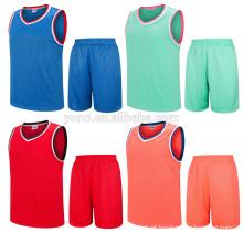 OEM sublimação impressão basquete jersey novo modelo uniforme