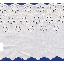Eyelet Embroidered lace for lady accessories/new design patterns lace / attractive Embroidered lace fabric