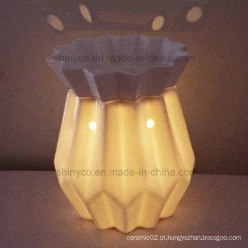 Aquecedor elétrico translúcido da vela da luz do diodo emissor de luz com temporizador