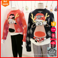 Fashion custom knitted adult pullover unisex christmas jumpers christmas sweaters