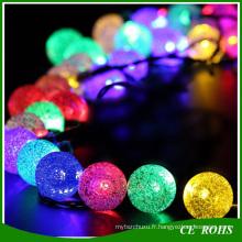 Lumières décoratives de pelouse solaire colorée extérieure 50 LED Colorful Bubble Solar Light String pour la fête de noël de mariage