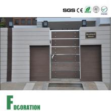 Panel de pared impermeables de madera del WPC de la cubierta para la puerta al aire libre