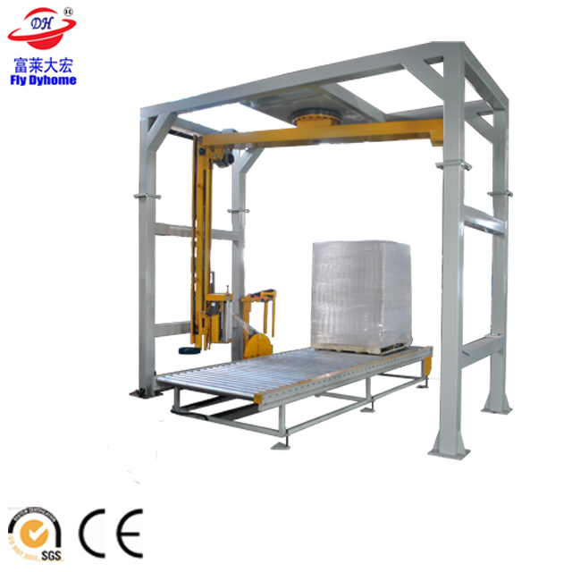 Automatic Conveyor Pallet Wrapper1