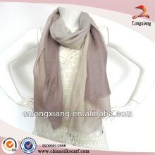 Bufanda hecha a mano lana de color sólido