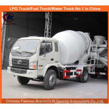 Mini camion de mélangeur concret de Foton 3cbm pour le petit mélangeur de ciment