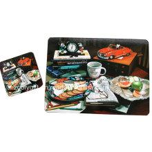 Placemats de dîner en liège de grande taille / Tapis de table promotionnel / Coasters personnalisés en corbeau en liège