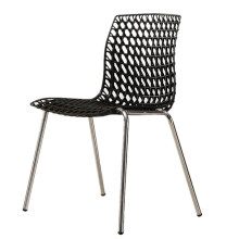 Wholesale cheap furniture plastic steel leisure garden dining stackable hollow chair