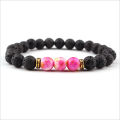 Natural volcanic stone bracelets for men and women