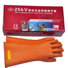 Electric Insulated Rubber Gloves Industrial Gloves Class 1