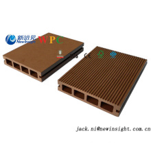 137*23mm Waterproof Interlocking Wood Plastic Composite Decking