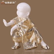 Matériau polyrésine de haute qualité Kungfu monk figure pour ornements maison