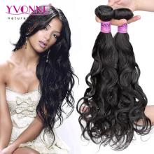 Onda natural de qualidade superior não transformados cabelo brasileiro virgem