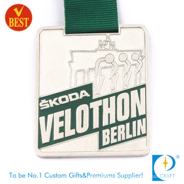 Customized Pressure Stamping Baking Varnish 2D Car Publicity Souvenir Medal From China