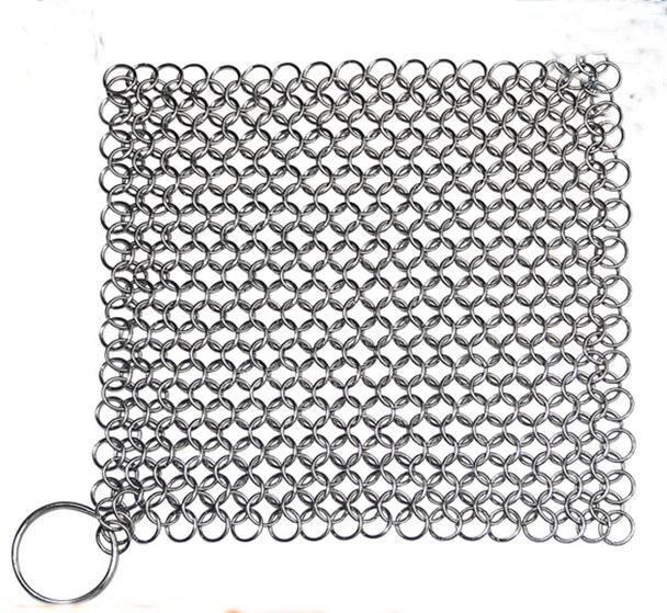 316 Stainless Steel Chainmail Pot Scourer
