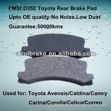 Plaquette de frein à disque toyota Corolla D352