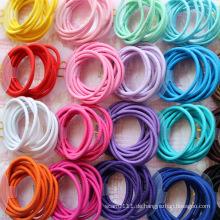 10 Stück Karte verpackt Mischfarben Gummi Haarbänder (JE1503)