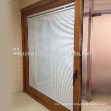 Doorwin shenzhen productos de vidrio acabado natural ascensor puerta corredera con persianas de seguridad
