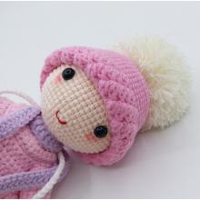 Hot Sale Crochet Handmade knitted doll Beautiful baby organic kids stuffed toy Amigurumi Doll